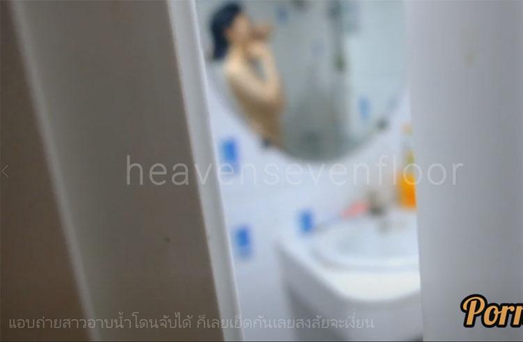 แอบถ่ายสาวอาบน้ำโดนจับได้ ก็เลยเย็ดกันเลยสงสัยจะเงี่ยน